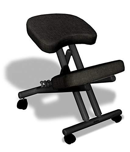 cinius Silla ergonómica, Madera de Haya y Acolchados Muy cómodos (Made in Italy) 8057168981582, Negro/Negro, única