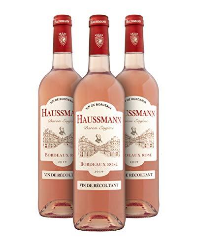 Haussmann Baron Eugène A.O.C. Bordeaux Rosé Vino Rosado - Burdeos, Francia - Pack 3 Bot. 75 cl