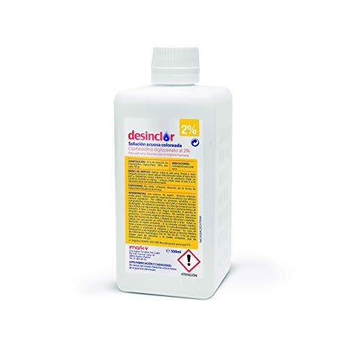 Desinclor Clorhexidina Acuosa Coloreada 2% Antiseptico - 500 ml