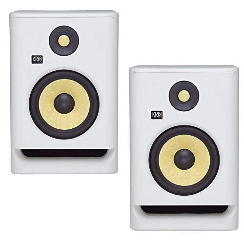 KRK RP5 Rokit 5 G4 Professional Bi-Amp 5' Powered Studio Monitors, White Noise - PAIR