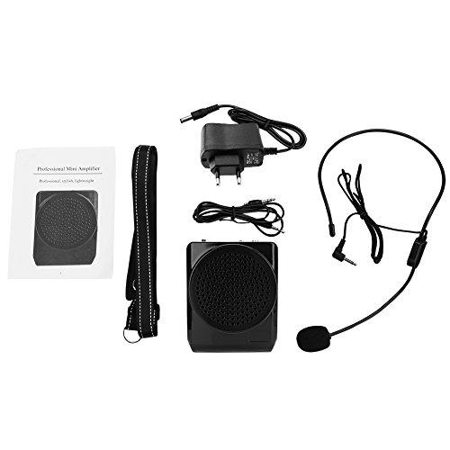 Zerone Draagbare voice versterker bedraad headset microfoon luidspreker met band voor leraren Tour Guide Public Speaking (EU-stekker)