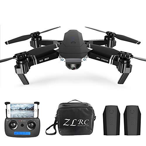 Goolsky Drone RC 4K SG901 Cuadricóptero con Cámara Posicionamiento de Flujo óptico Interfaz MV Sígueme Video de Gestos RC Quadcopter 2 Baterías Bolsa Portátil