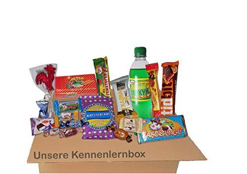 QueenBox® ✔ Russische Süßigkeiten KennenlernBox, Snacks & Getränke Chips, Schokolade, Gebäck ✔ 15 Teile süssigkeiten Fruchtgummis,Box snacks Wechselndes Sortiment