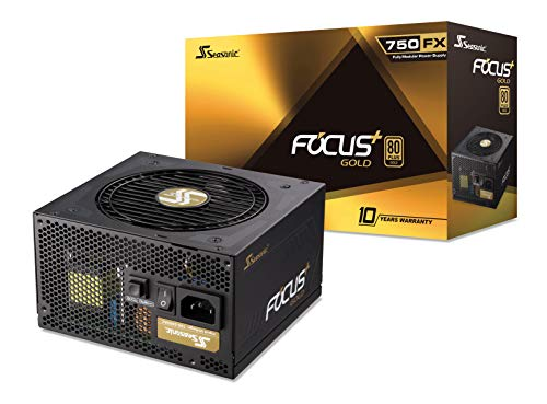 Seasonic FOCUS Plus 750 Gold SSR-750FX 750W 80+ Gold ATX12V & EPS12V Full Modular 120mm FDB Fan Compact 140 mm Size Power Supply