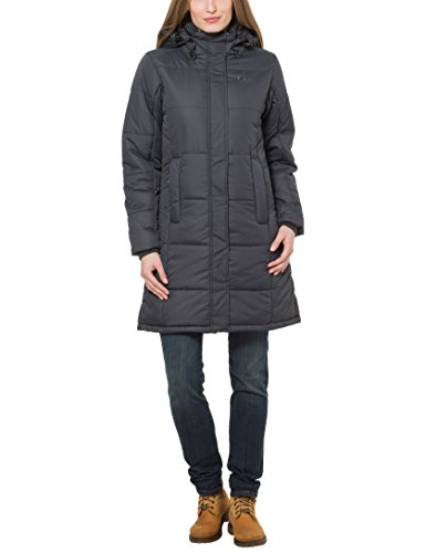 Ultrasport Damen Wintermantel Smilla, Schwarz (anthracite), M, 4407