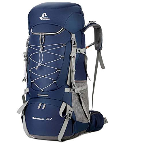 RatenKont 75L Bolsa Senderismo para Acampar con Cubierta para Lluvia Viaje Escalada Montañismo Trekking Bolsa para Acampar