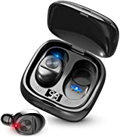 Bluetooth ワイヤレスイヤホン LEDディスプレイイヤホン Hi-Fi 高音質 最新Bluetooth5.0+EDR搭載 3Dステレオサウンド 完全ワイヤレス イヤホン 自動ペアリング ブルートゥース イヤホン AAC対応 左右分離型...