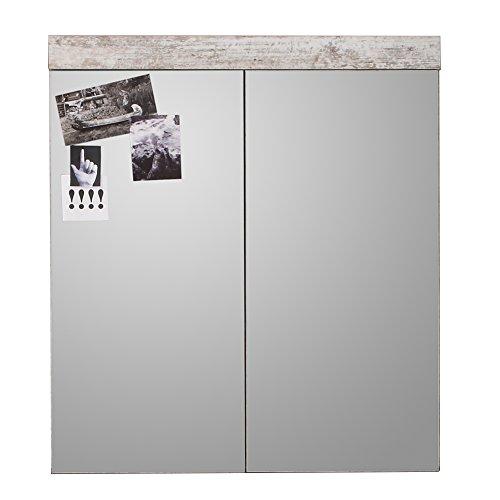 trendteam smart living 1259-405-68 Badezimmerspiegelschrank in Canyon weiß Pine, 72 x 79 x 17 cm