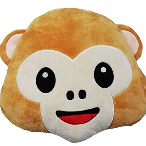 Hearsbeauty Lovely Funny Emoji-Affe Kissen Cute Emotion Gefülltes Plüsch Kissen Spielzeug Puppe 4#