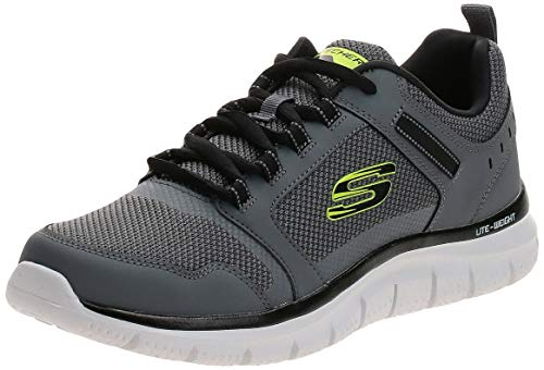 Skechers Track Knockhill, Herren-Trainingsschuh, Sneaker, Grau (anthrazitschwarz), 44 EU