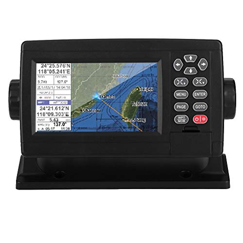 Qiilu Marine GPS, 5 Zoll Marine Satellite GPS Navigator Farb-LCD-Display XF-520 Dual-Mode-Positionierungsboot-Kartenplotter