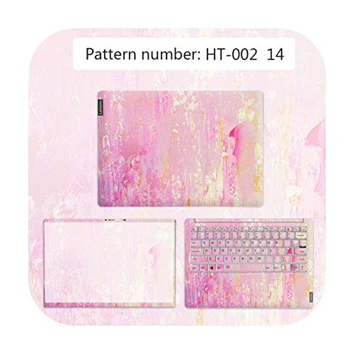 DIY Watercolor Cover Laptop Sticker PVC Notebook Skin For Lenovo G40 80/FLEX 2 14D/Ideapad 330C etc Waterproof Laptop Film-HT-002-YOGA 710 15ISK