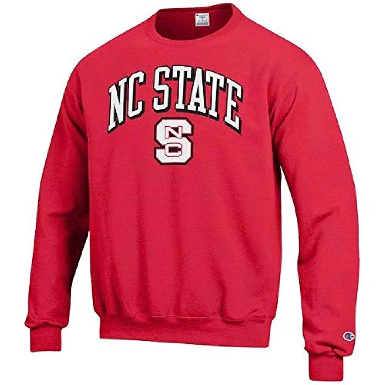 バンク支配する許すChampion Champion NC State Wolfpack Red Arch Over Logo Powerblend Pullover Sweatshirt スポーツ用品 【並行輸入品】