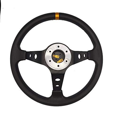 Volante Deportivo Adaptador del volante de la PU competir con auto Volantes profundo maíz deriva Deporte Neumáticos En G29 G920 13/14 pulgadas de dirección Volante (Color : Set B)