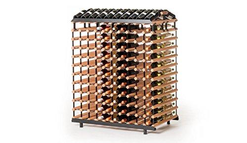 RAXI™ Vinothek Premium - Botellero de madera de haya con diseño de lujo, ideal para presentar tu vino o vinothek, 240 botellas