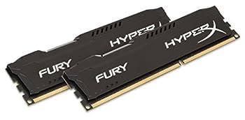 HyperX Kingston FURY 16GB Kit  2x8GB  1866MHz DDR3 CL10 DIMM - Black  HX318C10FBK2/16