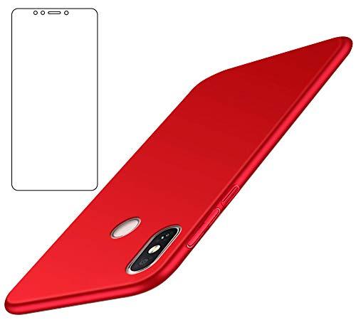 BLUGUL Funda Xiaomi Mi MAX 3 + Protector de Pantalla, Ultra Delgado,...