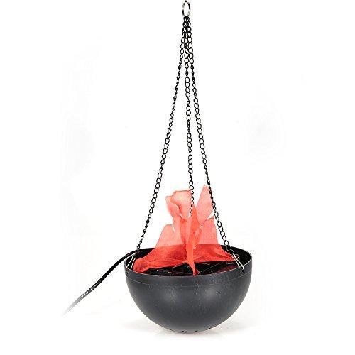 Nany Halloween-Dekoration Elektronische Feuerschale Lampe für Hochzeiten, Requisiten, zum Aufhängen, künstliche Flamme Lampe/Hängedekoration, Halloween-Lampe/20 cm Hängelampe, europäische Vorschriften