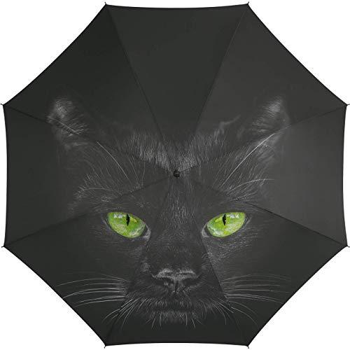 Automatik Regenschirm Taschenschirm Essentials cat mit wunderschönem Katzenmotiv