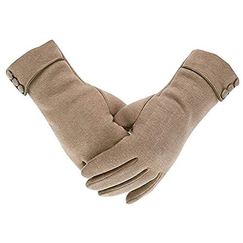 Guantes de teléfono para mujer con forro polar grueso, resistentes al viento, cálidos para el invierno, guantes térmicos para uso en climas fríos.