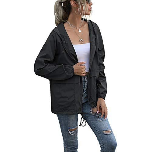 ZFQQ Damen Kapuzenpullover mit Reißverschluss Leichte wasserdichte Regenmanteljacke...