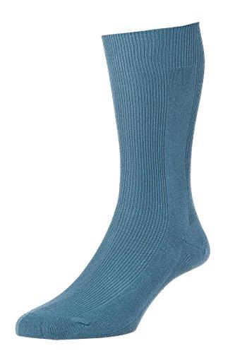 HDUK Mens Socks HJ Hall Executive Getäfelten Rib hj101Baumwolle Socken/UK 6–11, UK 11–13und UK 13–15 Gr. Medium, slate blue