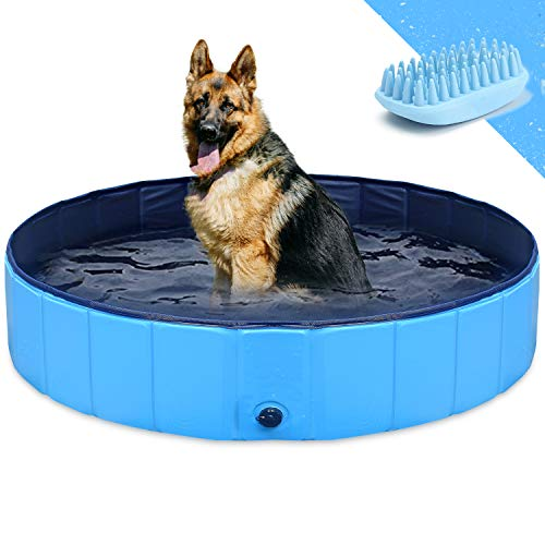 GoStock Dog Pool for Large Dogs, Collapsible Dog Pet BathPool, Folding Kiddie...