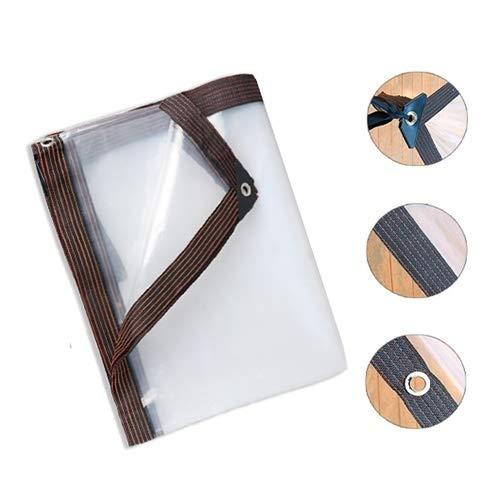 SHIJINHAO Transparente Lonas Impermeables Exterior, Impermeable Anti-UV con Agujeros De Metal Refuerzo De Borde Kiosko Al Aire Libre Tienda Temporal, 23 Medidas (Color : Claro, Size : 2X5M)