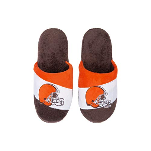 FOCO Cleveland Browns NFL Colorblock Slide Slipper - Youth - L