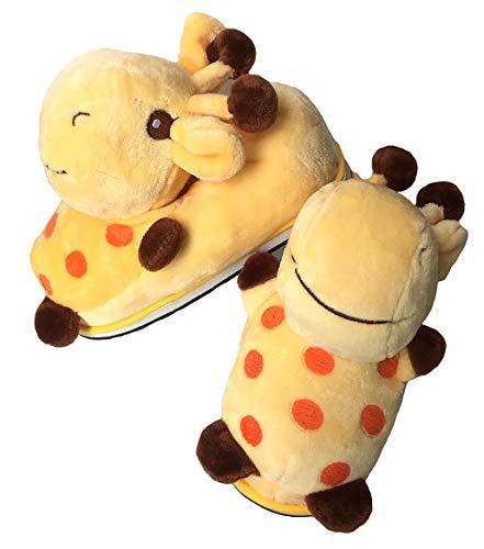 zteng Winter Süß Karikatur Baumwolle Schuhe Mode Innen Warm Tier Hausschuhe (Giraffe)