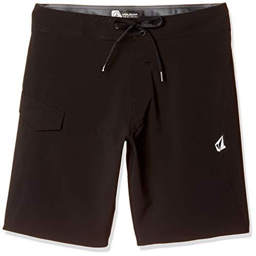 Volcom Men's LIDO Solid MOD 20 Board Shorts, Black, 36A