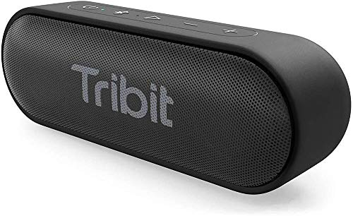Bluetooth Speaker, Tribit XSound Go Speaker with 16W Loud Sound & Deeper Bass, 24H Playtime, IPX7 Waterproof, Bluetooth 5.0 TWS Pairing Portable Wireless Speaker for Home, Outdoor (Upgraded)
