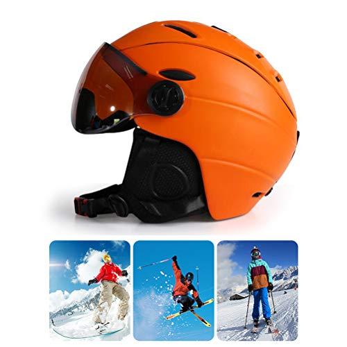 Egosy Casco de esquí para niños y Adultos Casco de Nieve con Gafas de esquí para Adultos y Adolescentes Casco de esquí para Patinaje Patinaje Snowboard
