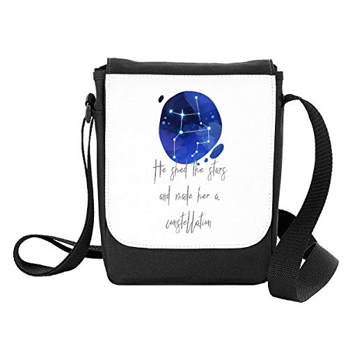 Zodiac Star Sign Sagittarius He Shed The Stars and Made Her A Constellation Shoulder Bag - Small