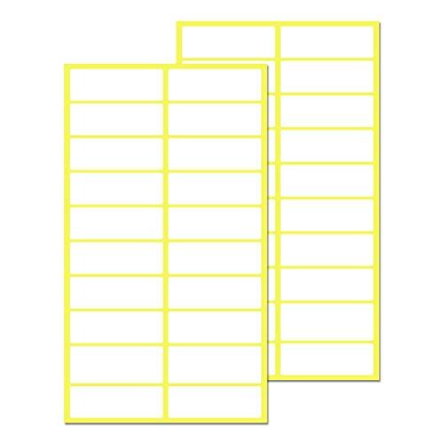 Pack de 500, 38 x 13 mm - Etiquetas Adhesivas Blancas Pegatinas