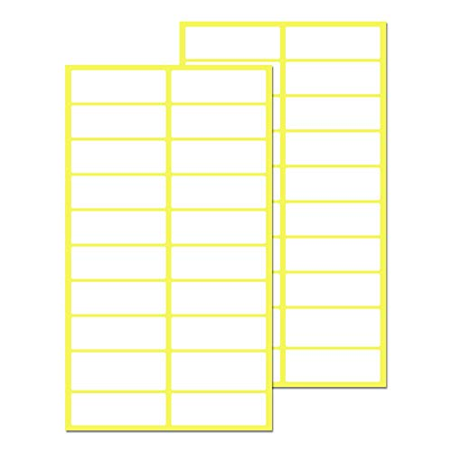 500 Stück, 38 x 13 mm, Aufkleber Etiketten Selbstklebend Klebeetiketten - Weiß