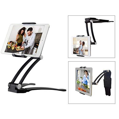 """Moutik Kitchen Tablet Holder Adjustable Bracket fits 4 to 10.5"""" Kitchen Cabinet Desktop Cell Phone Tablet arm Mount Stand - Black,Nintendo Switch"""