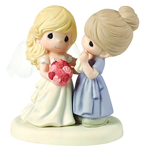 Precious Moments, My Daughter, My Pride, A Beautiful Bride Bisque Porcelain Figurine, Mother and Daughter, 153009,Multicolor