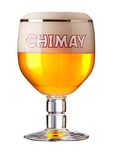Chimay Bicchiere da Birra 33cl Trappist Belga Forma Perfetta per Bere La Birra