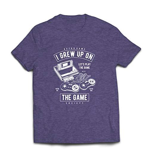 lepni.me Männer T-Shirt Lassen Sie Uns das Spiel Spielen, Retro Videospielgesellschaft (Medium Heidekrautgrau Mehrfarben)