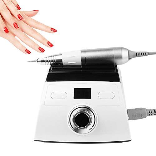 Skyeep Maquina de Manicura Torno para Uñas Eléctrico Profesional 30000 RPM con Pantalla LCD Set de Manicura y Pedicura Bajo Nivel de Ruido y Vibración Fresas Pulidora