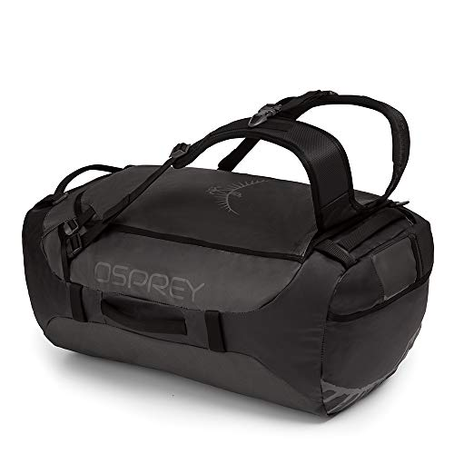 Osprey Transporter 65 Unisex Durable Duffel Travel Pack with Harness and Detachable Padded Shoulder Strap - Black (O/S)