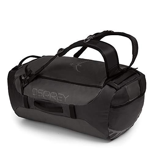 Osprey Transporter 65 strapazierfähige Duffel-Reisetasche mit Tragesystem und abnehmbarem, gepolstertem Schultergurt, unisex - Black (O/S)