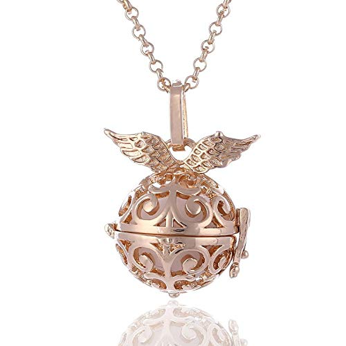 WYFLL Décoration À La Mode Parfum Huile Essentielle Aromathérapie Collier Ange Aile Sachet Chandail Chaîne Accessoires De Bijoux Personnalisés