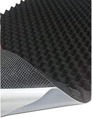 Akoestisch schuim, noppenschuim, isolatie (100cm x 50cm x h) wit of zwart (100 x 50 x 3, Anth/zwart)