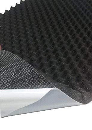 Akustikschaumstoff, Noppenschaumstoff, Dämmung (100cm x 50cm x h) (100 x 50 x 2, Anth/Schwarz)