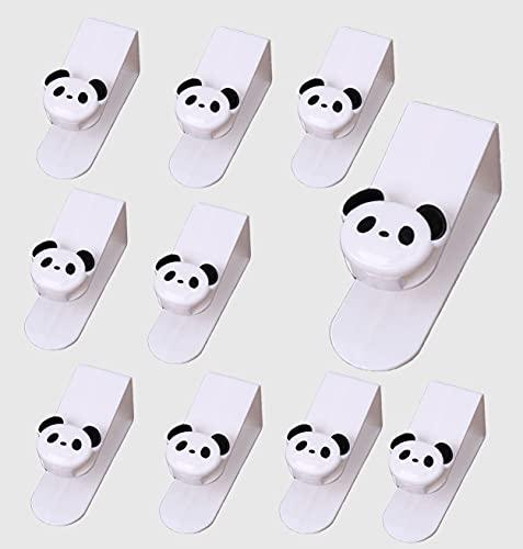 Newberry Ganchos multifunción, ganchos de plástico PP, ganchos panda, ganchos para ropa, ganchos para toallas (10)