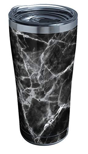 Tervis Copo térmico de aço inoxidável mármore com tampa transparente e preta, 590 ml, prata