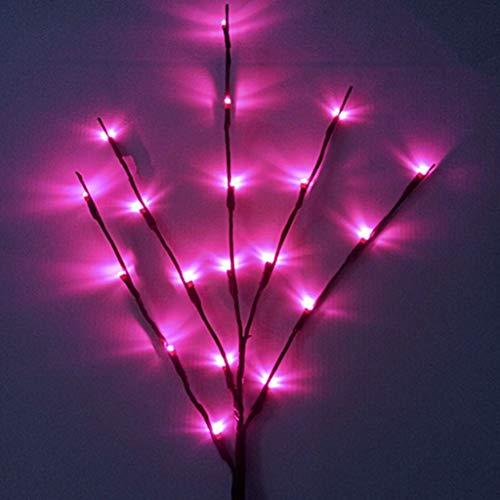 Kreative Led Branch Lichterkette Simulation Flower Lichterkette Weiß Terrasse Topfpflanze Weihnachten GefäLschte Blume Vase ZubehöR Schlafzimmer Festival Lichterkette Warmweiß
