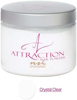 nsi Attraction Nail Powder - Crystal Clear - 130g / 4.6oz